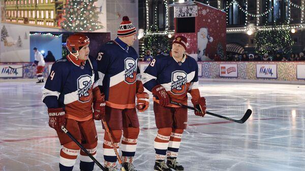 Президент РФ В. Путин принял участие в товарищеском матче Ночной хоккейной лиги