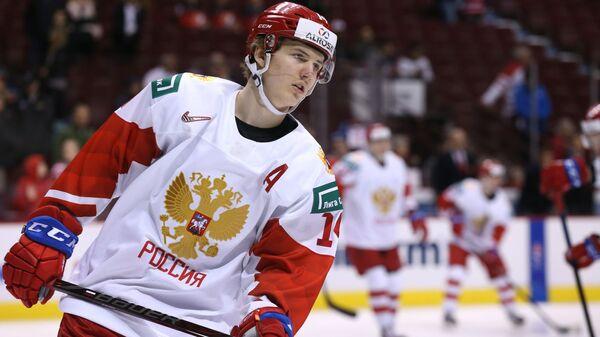 Нападающий молодежной сборной России по хоккею Виталий Кравцов