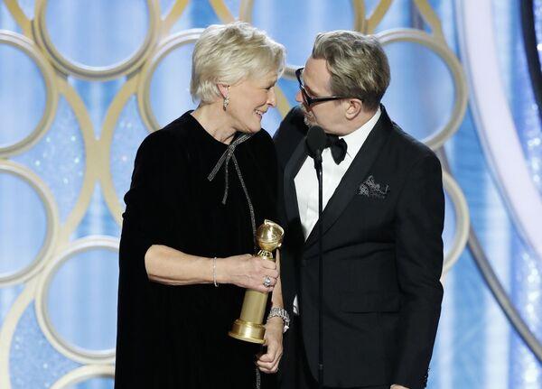 Американская актриса Гленн Клоуз получила Золотой глобус в номинации Лучшая актриса в драматическом фильме за роль в картине Жена. 6 января 2019