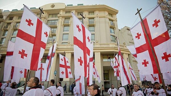 Ежегодное рождественское шествие Алило в Грузии. 7 января 2019