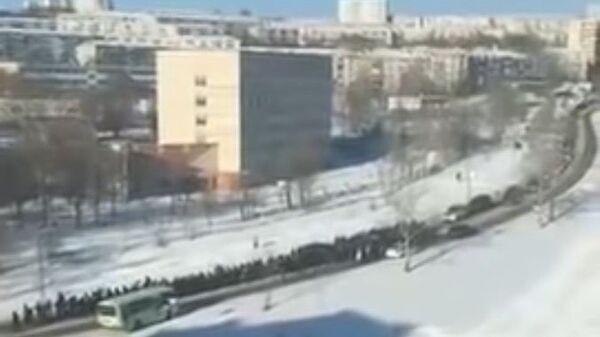 Похороны криминального авторитета Юрия Зарубина в городе Амурске Хабаровского края