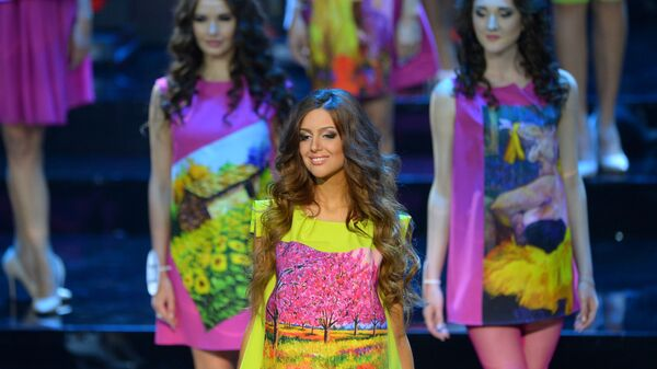 Оксана Воеводина в финале конкурса Мисс Москва — 2015