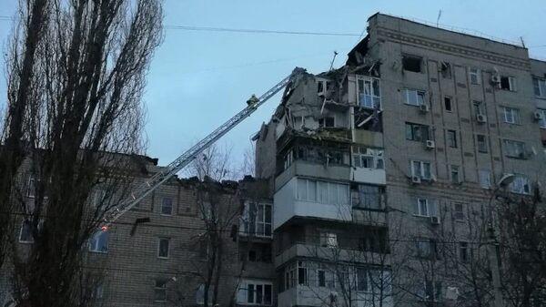 На месте взрыва бытового газа в городе Шахты Ростовской области