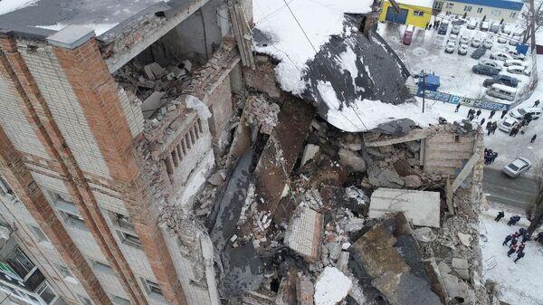 Девятиэтажный жилой дом №16 на улице Хабарова в городе Шахты, пострадавший из-за взрыва бытового газа