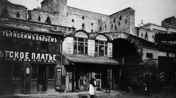 Старая Москва, магазины в Китай городе. Конец XIX века.