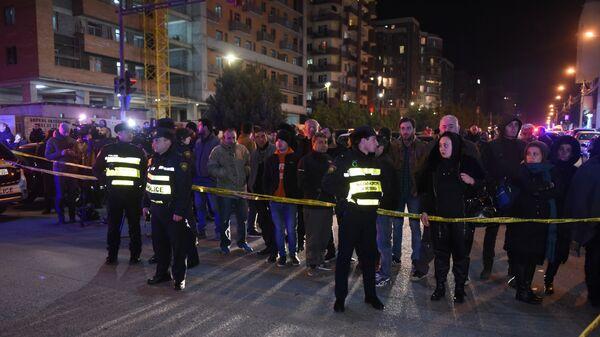 Ситуация в районе Диди Дигоми на окраине Тбилиси, где произошел взрыв газа