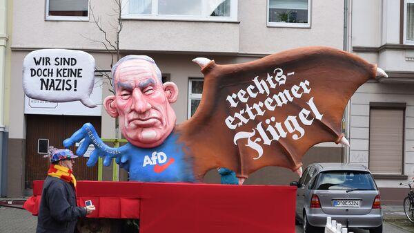 Изображение на карнавале в Дюссельдорфе лидера партии  Альтернатива для Германии  Александра Гауланда