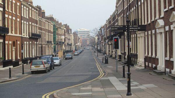 На одной из улиц Ливерпуля.