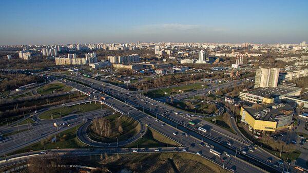 Вид на город Красногорск Московской области