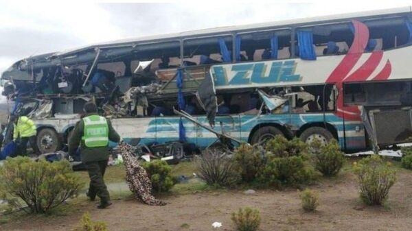 Автобус, упавший в пропасть на юге Боливии