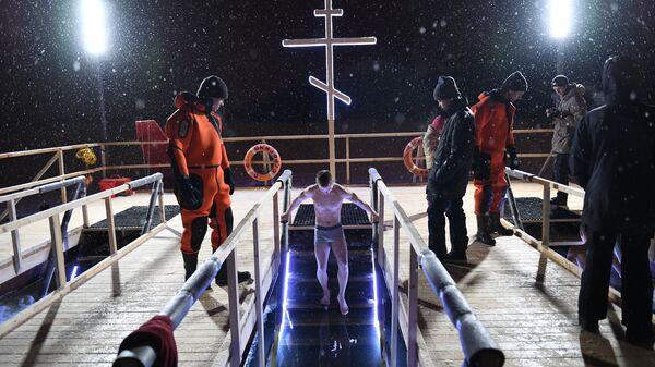 Крещенские купания в Строгино