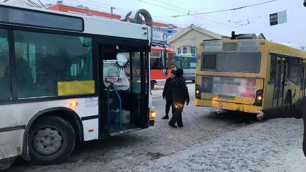 ДТП в Ленинском районе Перми на улице Пушкина. 21 января 2019