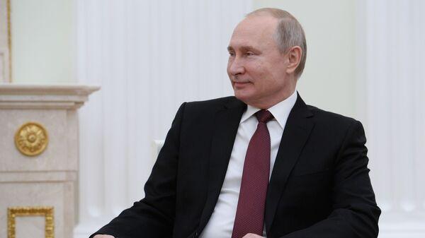 Президент РФ Владимир Путин во время встречи с премьер-министром Японии Синдзо Абэ. 22 января 2019
