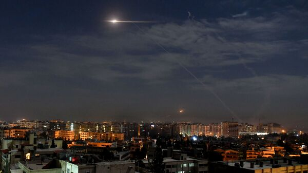 Средства противовоздушной обороны Сирии во время ударов по Дамаску