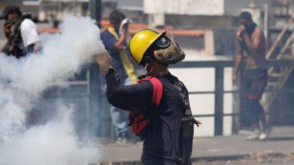 Протесты в Каракасе против президента Венесуэлы Николаса Мадуро