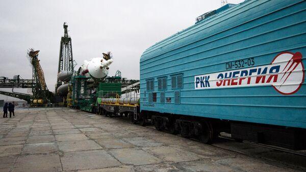 Вывоз ракеты-носителя Союз-ФГ