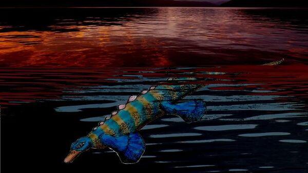 Так художник представил себе доисторического утконоса из Китая