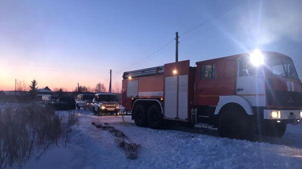 Ликвидация пожара в частном доме в Юргамышском районе Курганской области