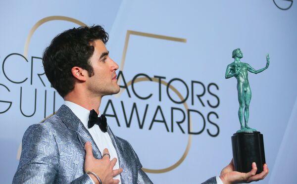 Даррен Крисс на церемонии вручении премии Гильдии киноактеров США