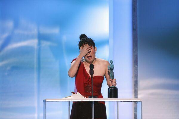 Сандра О на церемонии вручении премии Гильдии киноактеров США