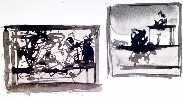 Рисунок с выставки Михаил Шемякин. Рисунки в стиле дзен