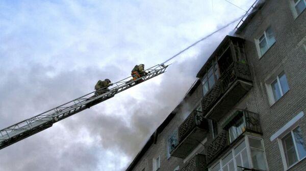 Пожар в жилом доме в Улан-Удэ