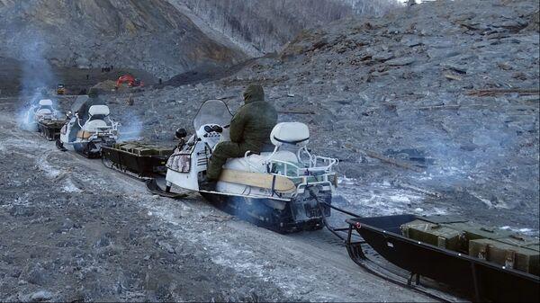 Подрывные работы на реке Бурее