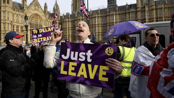 Участники акции против Brexit в Лондоне. 29 января 2019