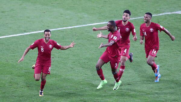 Футболисты сборной Катара