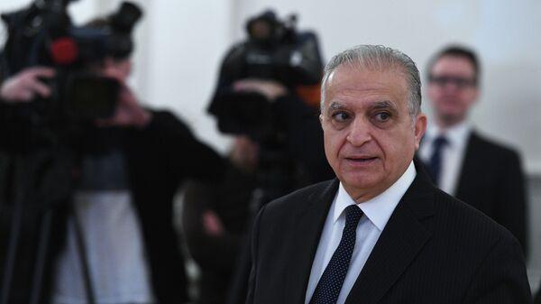 Министр иностранных дел Ирака Мухаммед Али аль-Хаким во время встречи с министром иностранных дел РФ Сергеем Лавровым в Москве. 30 января 2019