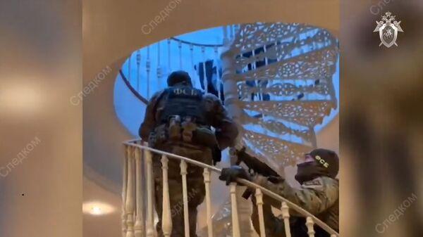 Обыск в особняке по делу Арашуковых. Кадры СК РФ