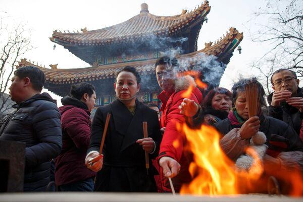 Мероприятия по случаю празднования китайского Нового года в Пекине