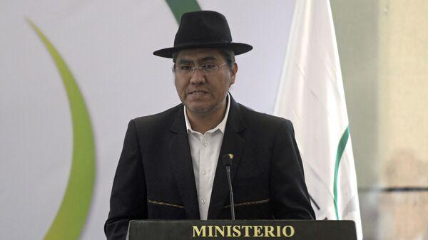 Министр иностранных дел Боливии Диего Пэри