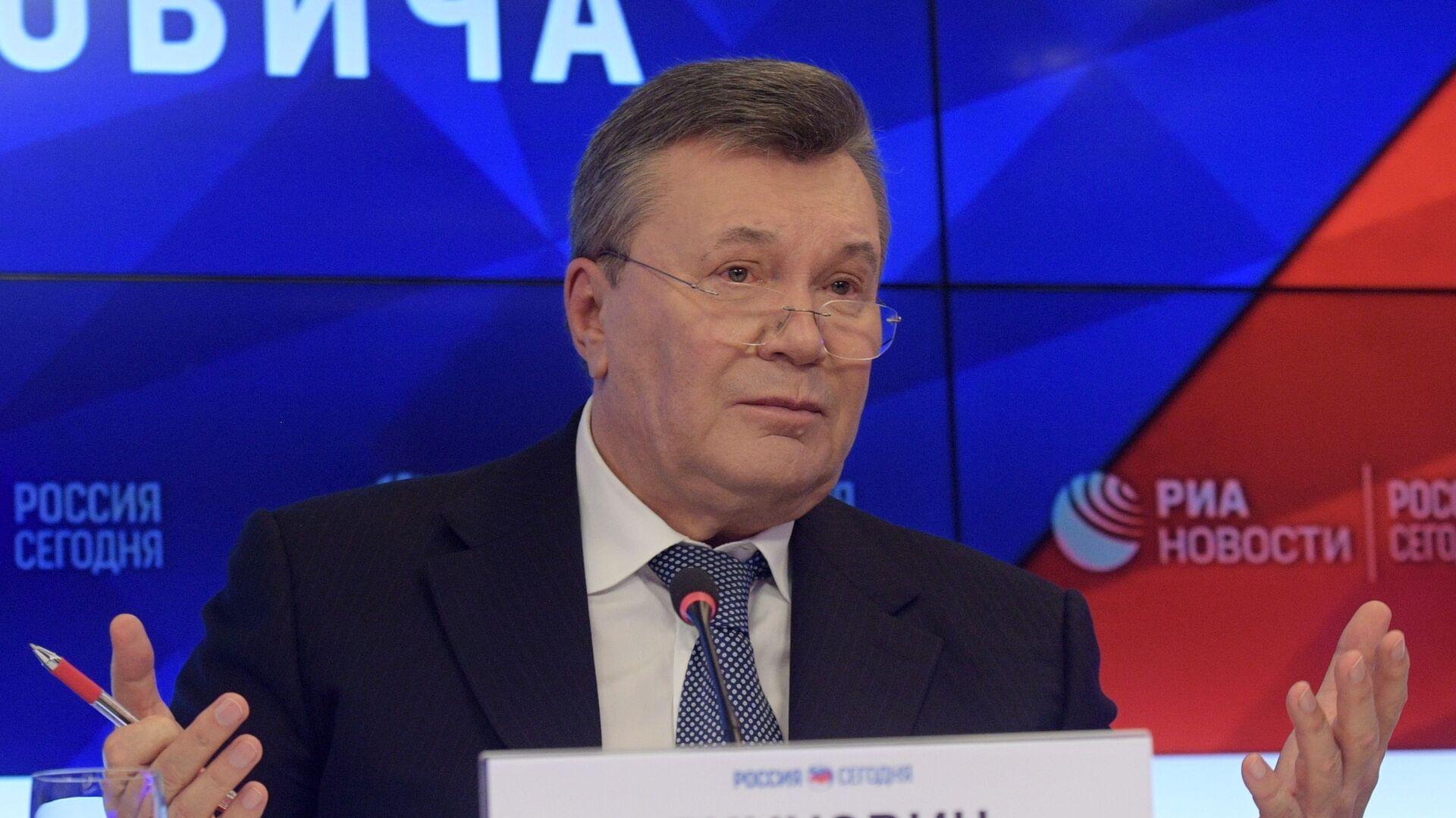 Бывший президент Украины Виктор Янукович на пресс-конференции в МИА Россия сегодня - РИА Новости, 1920, 28.07.2021