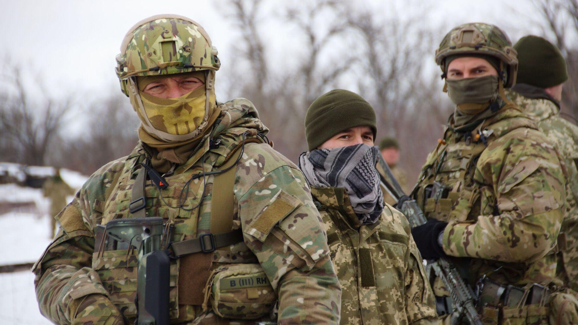 Украинские военнослужащие в Луганской области - РИА Новости, 1920, 12.01.2021
