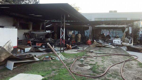 Пожар на базе Фламенго