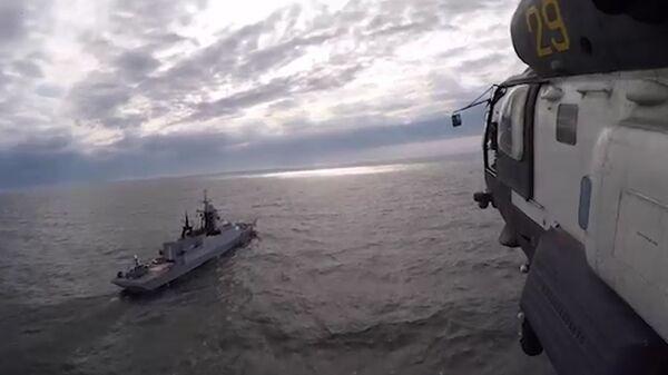 Кадры учений морской авиации Балтийского флота
