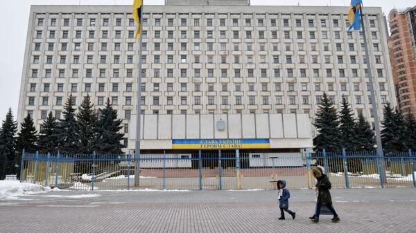 Здание Центральной избирательной комиссии Украины в Киеве