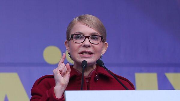 Тимошенко заявила о намерении вернуть Крым на Украину