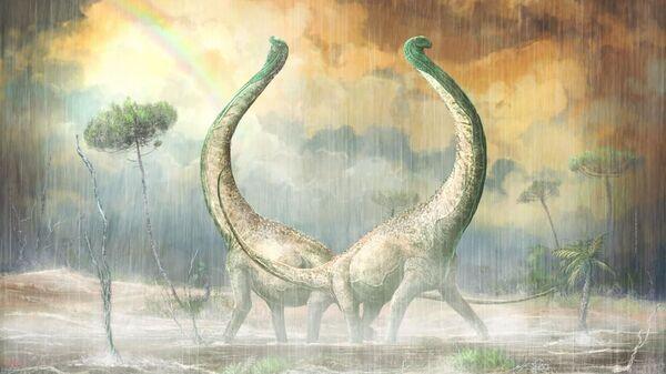 Титанозавр из Танзании, чей хвост похож по форме на сердце