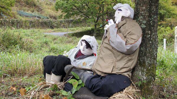 Тряпочные обитатели деревни кукол в Нагоро, Япония