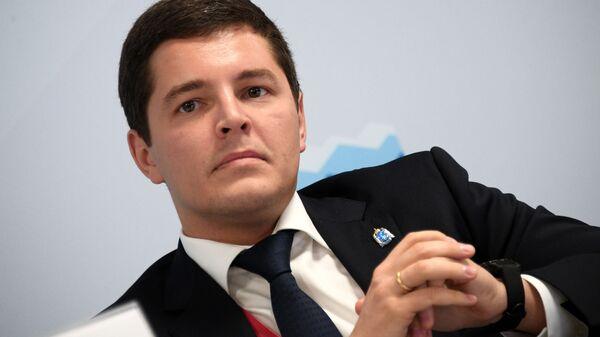 Губернатор Ямало-Ненецкого автономного округа Дмитрий Артюхов на Российском инвестиционном форуме в Сочи. 14 февраля 2019