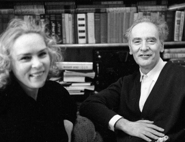 Академик Лев Ландау с женой