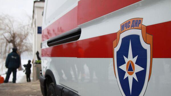 Служебный автомобиль МЧС ДНР в Донецке