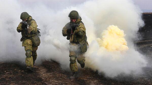 Военные на учениях