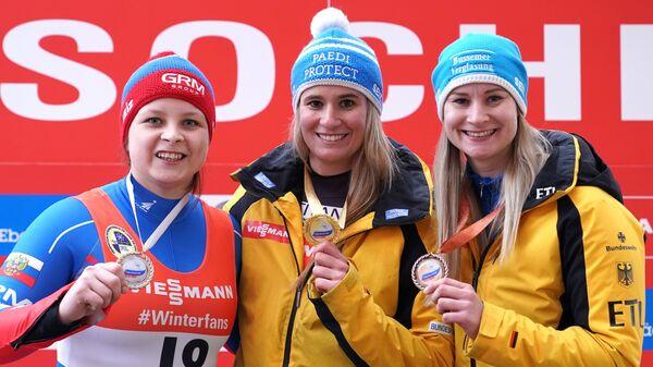 Виктория Демченко, Натали Гайзенбергер, Даяна Айтбергер (слева направо)