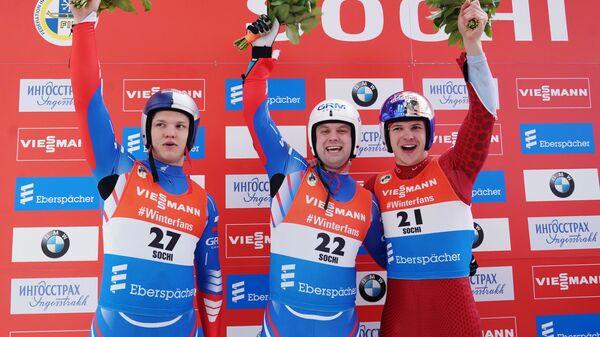 Роман Репилов (Россия) - 2-е место, Семен Павличенко (Россия) - 1-е место и Доминик Фишналлер (Италия) - 3-е место