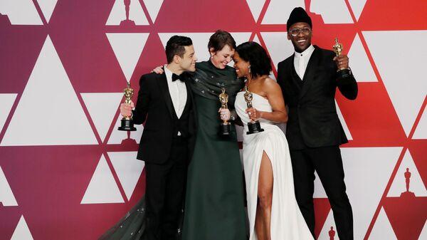 Рами Малек, Оливия Кольман, Реджина Кинг и Махершала Али на церемонии вручения наград премии Оскар-2019