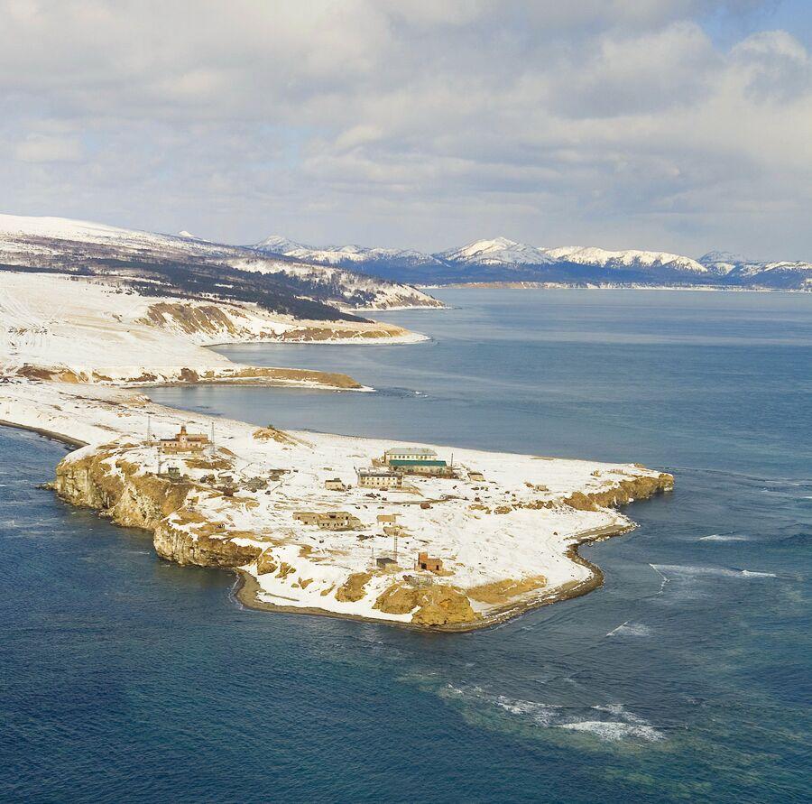 Мыс Крильон в проливе Лаперуза в Сахалинской области