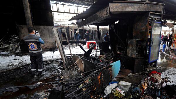 На месте крушения поезда в Каире, Египет. 27 февраля 2019